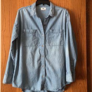 Oversized Jean Shirt